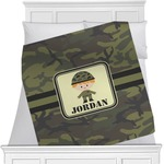 Green Camo Minky Blanket (Personalized)