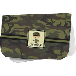Green Camo Burp Cloth (Personalized)