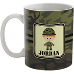 Green Camo Coffee Mug (Personalized)