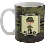 Green Camo Coffee Mug (Personalized)