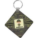 Green Camo Diamond Key Chain (Personalized)