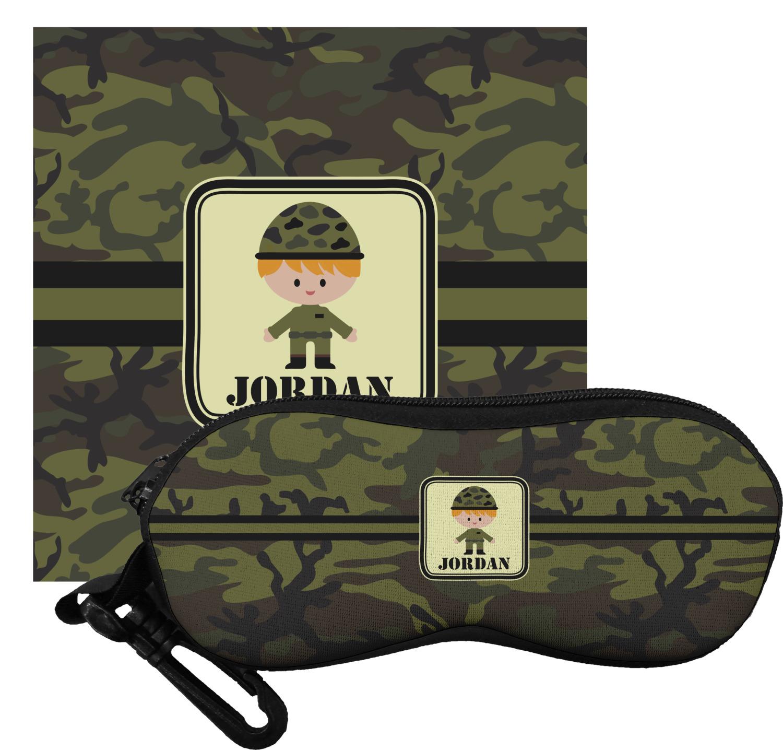 1a742a2530b5 Green Camo Eyeglass Case   Cloth (Personalized) - YouCustomizeIt