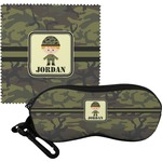 Green Camo Eyeglass Case & Cloth (Personalized)