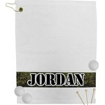 Green Camo Golf Towel (Personalized)
