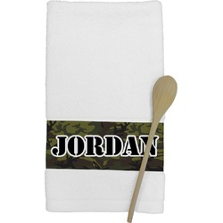 Green Camo Kitchen Towel (Personalized)
