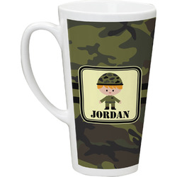 Green Camo Latte Mug (Personalized)