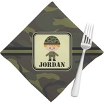 Green Camo Napkins (Set of 4) (Personalized)