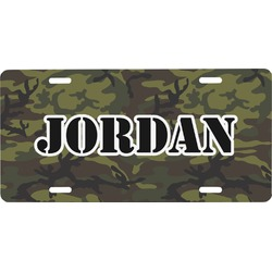 Green Camo Front License Plate (Personalized)