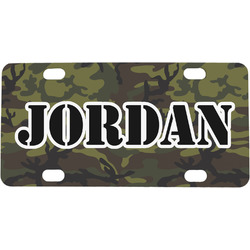 Green Camo Mini / Bicycle License Plate (Personalized)