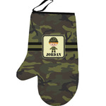Green Camo Left Oven Mitt (Personalized)