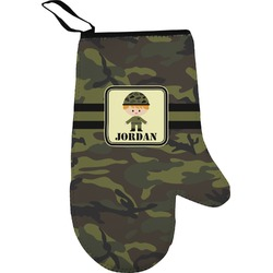 Green Camo Oven Mitt (Personalized)