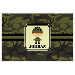 Green Camo Laminated Placemat w/ Name or Text