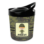 Green Camo Plastic Ice Bucket (Personalized)