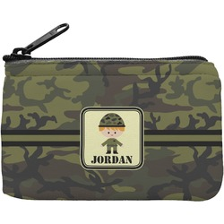 Green Camo Rectangular Coin Purse (Personalized)