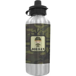 Green Camo Water Bottle (Personalized)