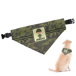 Green Camo Dog Bandana - Large (Personalized)