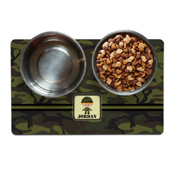 Green Camo Dog Food Mat (Personalized)