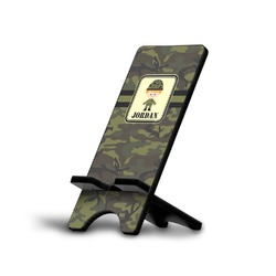 Green Camo Cell Phone Stands (Personalized)
