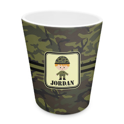 Green Camo Plastic Tumbler 6oz (Personalized)