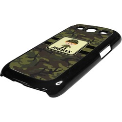 Green Camo Plastic Samsung Galaxy 3 Phone Case (Personalized)
