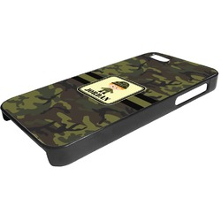 Green Camo Plastic iPhone 5/5S Phone Case (Personalized)