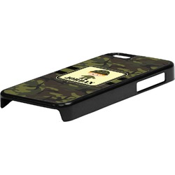 Green Camo Plastic iPhone 5C Phone Case (Personalized)