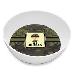 Green Camo Melamine Bowl 8oz (Personalized)