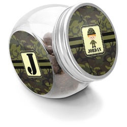 Green Camo Puppy Treat Jar (Personalized)