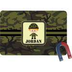 Green Camo Rectangular Fridge Magnet (Personalized)