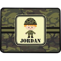 """Green Camo Rectangular Trailer Hitch Cover - 1.25"""" (Personalized)"""
