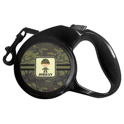Green Camo Retractable Dog Leash (Personalized)