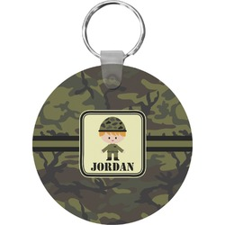 Green Camo Keychains - FRP (Personalized)