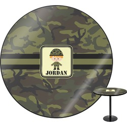 Green Camo Round Table (Personalized)