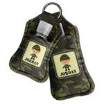 Green Camo Hand Sanitizer & Keychain Holder (Personalized)