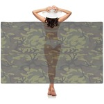 Green Camo Sheer Sarong (Personalized)