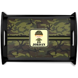 Green Camo Wooden Trays (Personalized)