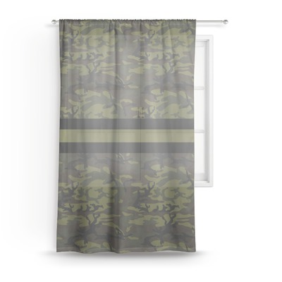 Green Camo Sheer Curtains (Personalized)