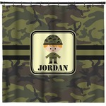 Green Camo Shower Curtain (Personalized)