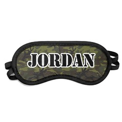 Green Camo Sleeping Eye Mask (Personalized)