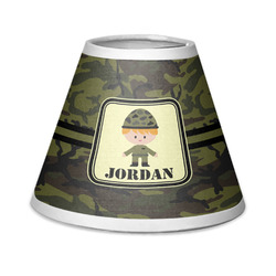 Green Camo Chandelier Lamp Shade (Personalized)