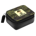 Green Camo Small Leatherette Travel Pill Case (Personalized)
