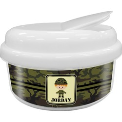 Green Camo Snack Container (Personalized)