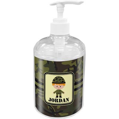 Green Camo Soap / Lotion Dispenser (Personalized)