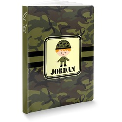 Green Camo Softbound Notebook (Personalized)