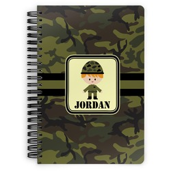Green Camo Spiral Bound Notebook (Personalized)