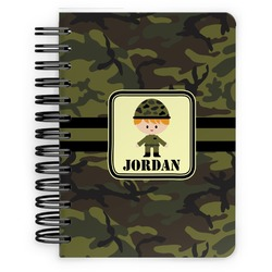 Green Camo Spiral Bound Notebook - 5x7 (Personalized)