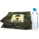 Green Camo Sports & Fitness Towel (Personalized)