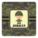 Green Camo Square Decal - Custom Size (Personalized)