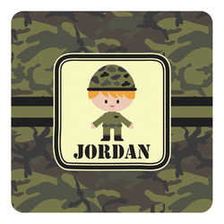 Green Camo Square Decal (Personalized)