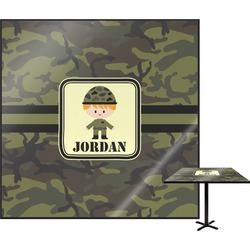 Green Camo Square Table Top (Personalized)